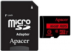 Apacer 16GB MicroSD Card + SD Adapter