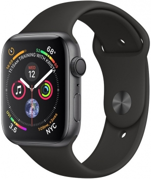 Apple Watch 4 40mm Space Grey Aluminum Case Black Sport Band